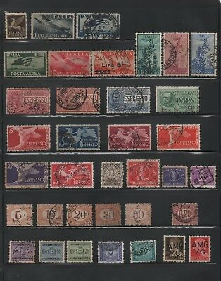 Italy, used back of book lot of 62
