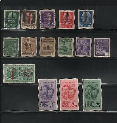 Italian Socialist Republic, 15 used and mint hinged stamps