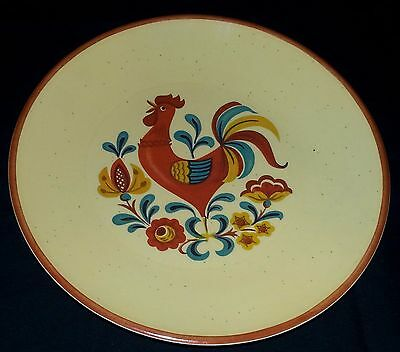 """Taylor-Smith-Taylor - Roosters & Roses - Dinner Plate - 10 1/4"""" Diameter"""