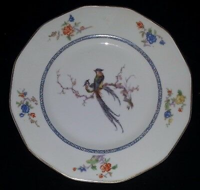 """Theodore Haviland Birds of Paradise Gold Band - Bread & Butter Plate 6 3/8"""" Dia"""
