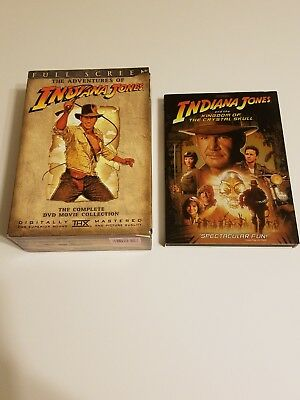 Indiana Jones Lot - The Complete DVD Movie Collection & Kingdom Crystal Skull