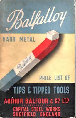 Engineering - Tips & Tipped Tools - Balfour Sheffield Balfalloy Catalogue-Prices