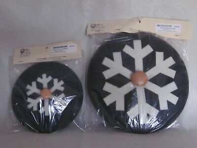 HTF New Longaberger Frosty Baskets Snowflake Lids for Wrought Iron Snowman