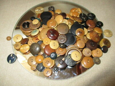 lot 1341- BUTTONS MIXED LOT SIZES SHAPES VEGETABLE IVORY JEWELRY CRAFT FUN 5 oz