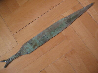 BRONZE AGE LONG SWORD ANCIENT ILLYRIANS BRONZE WEAPON 1200-900 BC. 51 cm