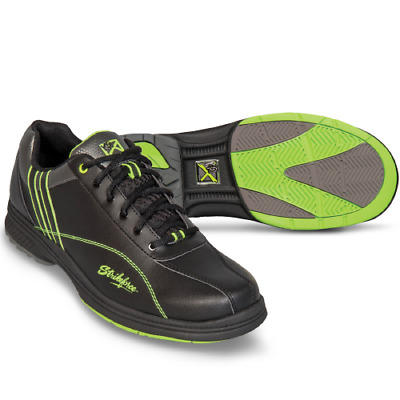 KR Strikeforce RAPTOR Black/Lime Mens Right Handed Interchangeable Bowling Shoes