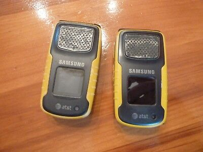 Samsung Rugby Cell Phone lot 2 Att Parts or Repair SGH-A837 Yellow