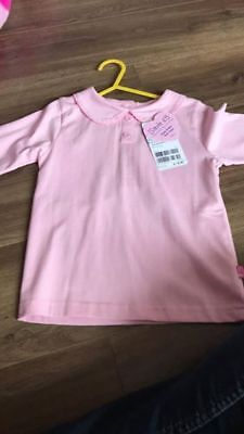 BNWT Pink JoJo Maman Bebe Peter Pan Collar Top - Age 3 to 4