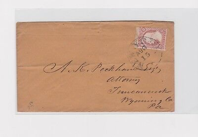 New York cover to Tunkhannock PA 3c #11A   k2c