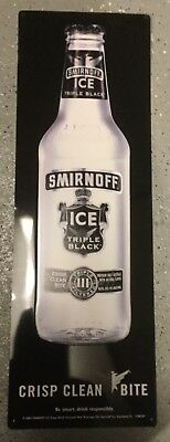 24 X 8 Smirnoff Ice Triple Black Premium Malt Beverage Tin Beer Sign!