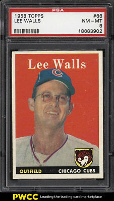 1958 Topps SETBREAK Lee Walls #66 PSA 8 NM-MT (PWCC)