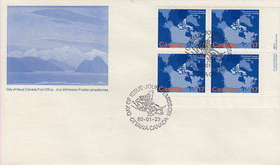 Canada #847 17¢ Arctic Islands Lr Plate Block First Day Cover