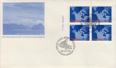 Canada #847 17¢ Arctic Islands Ul Plate Block First Day Cover