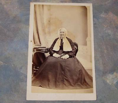 Lady in Head Wrap CDV Photo St. Catharines Ontario Ont