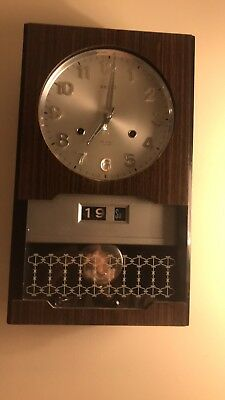 Vintage Seiko  Office/bank Pendulum Wall Clock Date. From 1960s/1970s