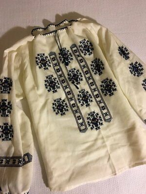 Vintage 70s Embroidered Boho Blouse M Deadstock Mexican