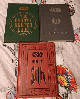 Star wars The Jedi Path Bounty Hunter Code and Book of Sixth books