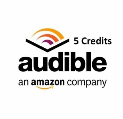 Audible credits 5 credits to your existing account US audible.com