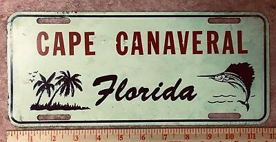 Vintage 1950s CAPE CANAVERAL Florida License plate, PRE-NASA! VERY hard to find