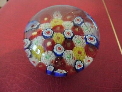 Antique vintage  Art Glass Paperweight Millefiori