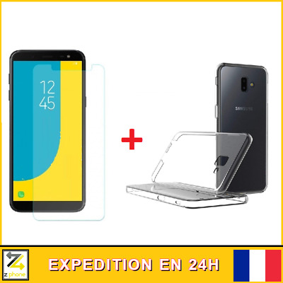 Lot verre trempé + Coque Galaxy SAMSUNG J5 J6 J6 Plus + 2016 2017 2018 Plus