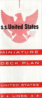 1950s UNITED STATES Miniature Deck Plan w/ Interiors - NAUTIQUES sHiPs WORLDWIDE