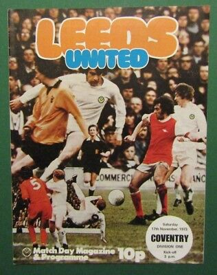 1973/74  Leeds United v Coventry City  Division 1 Programme  17/11/73