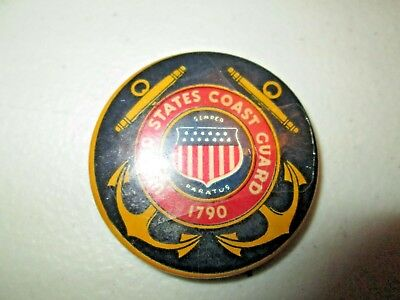 Vintage United States Coast Guard Semper 1790 Pin Pinback