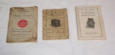 Camera Instruction Booklets Vintage Kodak