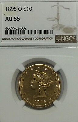 1895-O $10 Liberty Gold Eagle NGC AU 55