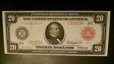 Very Scarce 1914 $20 Frn Red Seal  17 Known/ Higher Grade Note