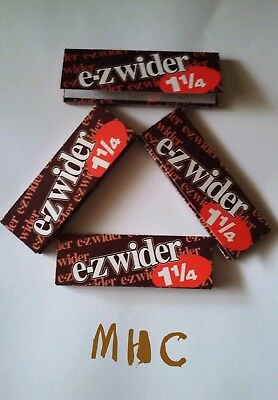 4 Books! EZ-WIDER 1.25 Cigarette Rolling Papers!