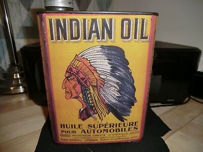 bidon d'huile ancien ontario indien  , reproduction , no esso ,oil can ,