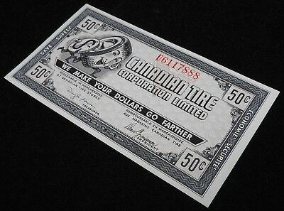 Gem Canadian Tire Gas Bar Coupon CTC9-D1 Serial # U6117888... ( BEAUTIFUL NOTE )
