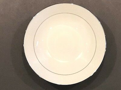 "Noritake Buckingham Platinum #6438 White China 8"" Round Vegetable Serving Bowl"