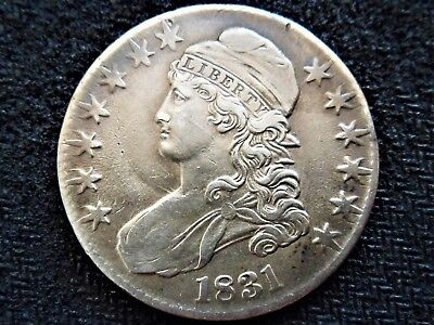 A 1831 Capped Bust Silver Half Dollar Beautiful Example!! WOW!!