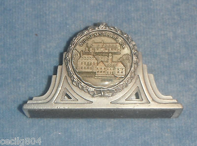 Williamsburg Virginia Pewter Business Card Holder With The Capitol  By Fort Usa