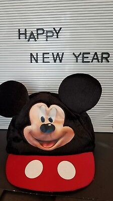 Mickey Mouse 3D Ears Baseball Hat Disney Youth Child RED Elastic one size Cap