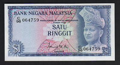 MALAYSIA P-1a. (1967-72) 1 Ringgit..  UNC