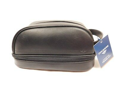 Men's Docker Travel Kit ~Black~ New With Tag  Shave Kit With Compartments