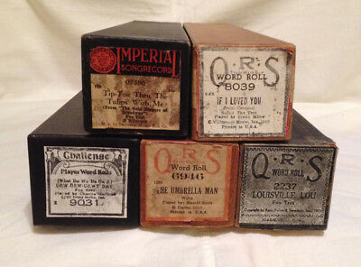 QRS Word Roll Imperial Challenge Piano Rolls Lot of 5 Fox Trot Waltz Milne