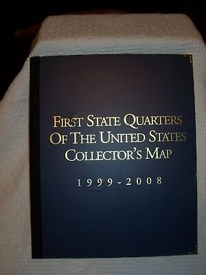 50 QUARTERS MAP of the United States - 50 state quarters collection ...