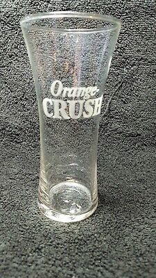 1920's Orange-Crush 5-1/2in.Tall Etched Soda Fountain Glass Very Nice