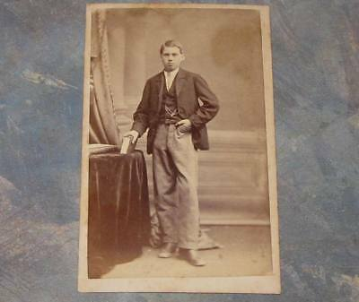 Young Man CDV Photo St. Catharines Ontario Photographer Antique
