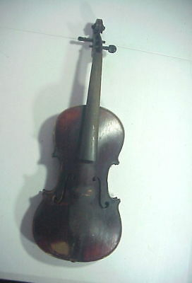 Antique 19TH CENTURY GERMAN VIOLIN with 1 PIECE TIGER MAPLE BACK