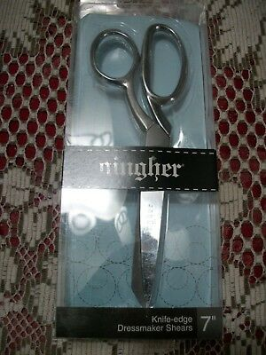 """Gingher Quality 7""""  Knife Edge Dressmaker Shears - Made In Italy"""