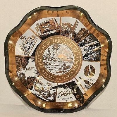 Great Seal of the State of Florida Fuffled Edge Plate