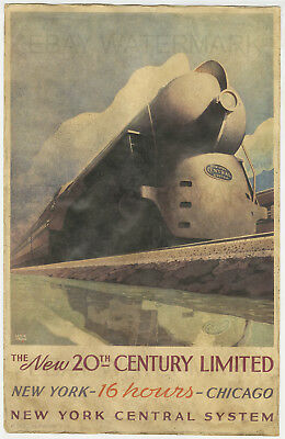 1938 New York Central System Train Travel Poster 11 x 17 Rail Road