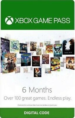 Xbox Game Pass - 6 month digital code