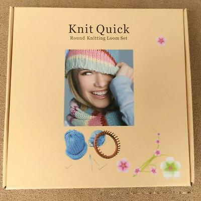 Knit Quick - 5 Piece Round Knitting Loom Set - As New Condition
